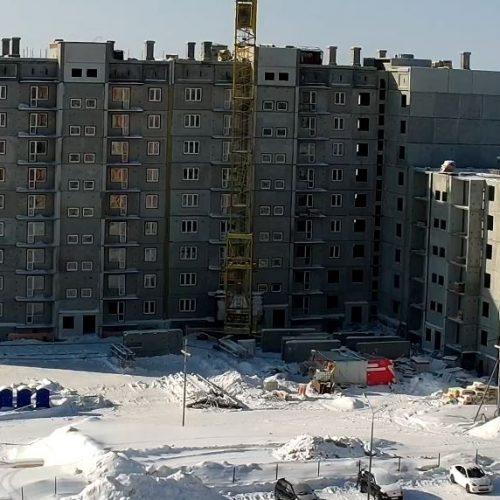 Фотоотчет строительной площадки дома № 17 (стр.) от 11.03.2021